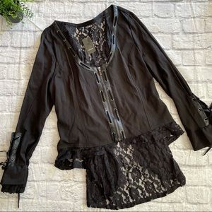 TORRID black corset lace back cuff NEW 2X